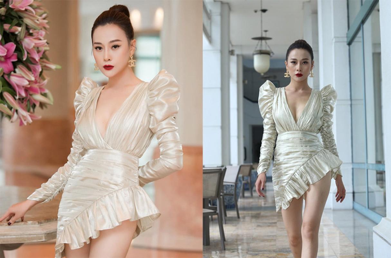 My nhan Viet mac vay ngan, giat minh thon thot so lo hang-Hinh-3