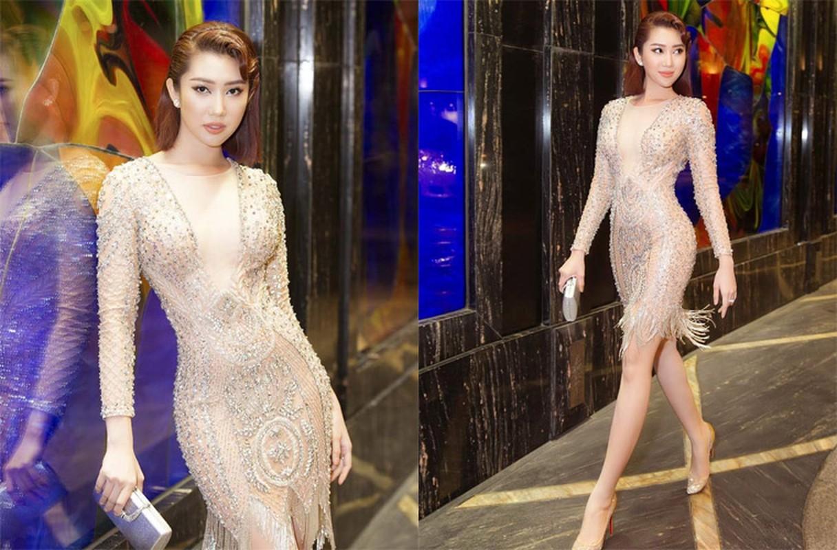 """Thoi trang khoe eo thon, nguc day cua Thuy Ngan """"Gao nep gao te""""-Hinh-5"""