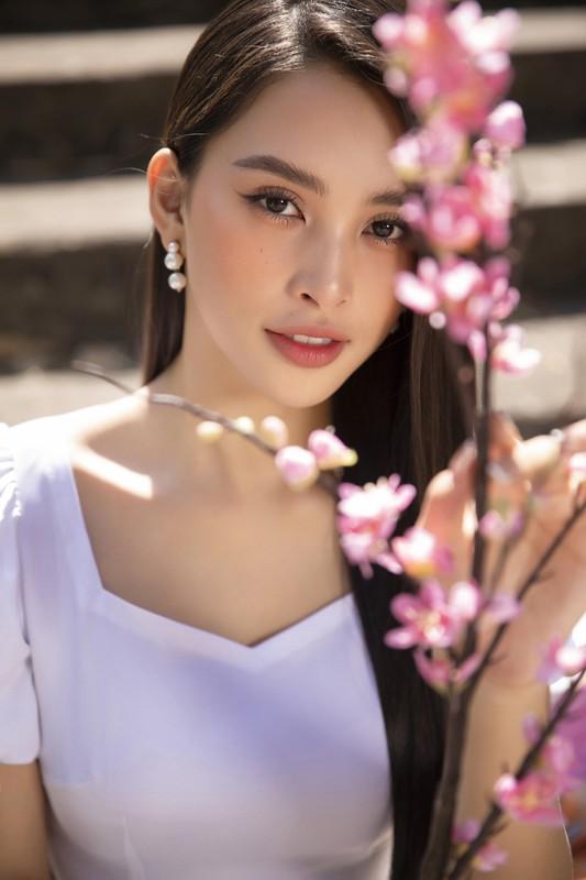 """Hoa hau Tieu Vy dep """"gay me"""" trong ta ao dai Tet-Hinh-6"""
