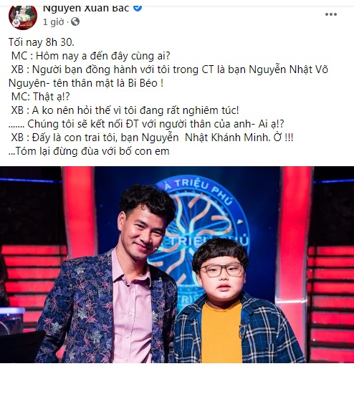 """Ve dang yeu con trai giup Xuan Bac rinh 40 trieu """"Ai la trieu phu"""""""