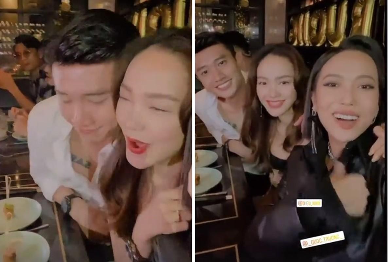 """Minh Hang """"dep bat chap"""" giua nghi van hen ho Quoc Truong"""