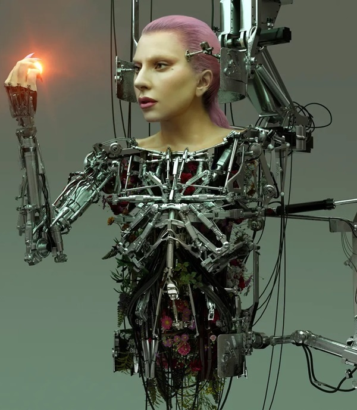 """Anh nong bong gay """"soc"""" cua Lady Gaga tren tap chi-Hinh-2"""
