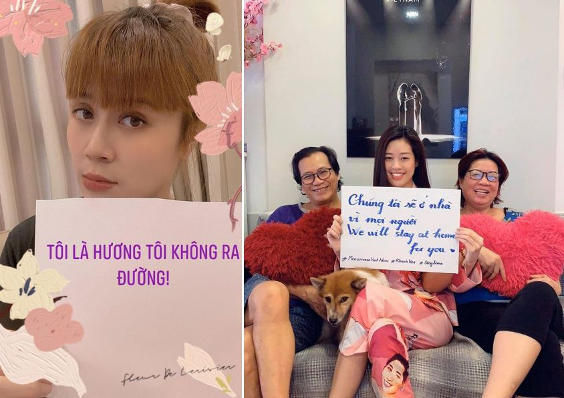 "Sao Viet mua Covid-19: Ngoc Trinh ""du trend'' khau hieu, Ha Ho chuong mu chong dich-Hinh-3"