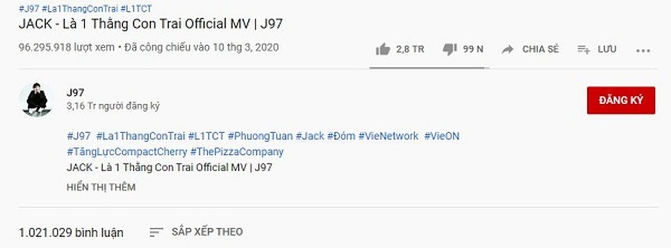 "Jack tiep tuc ""vuot mat"" Son Tung M-TP so huu ky luc moi tren Youtube-Hinh-2"