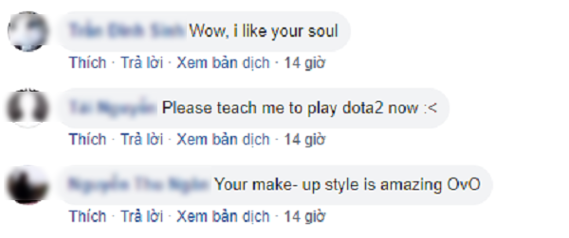 Gop vui hinh cosplay trong group game Viet, gai xinh Dan Mach