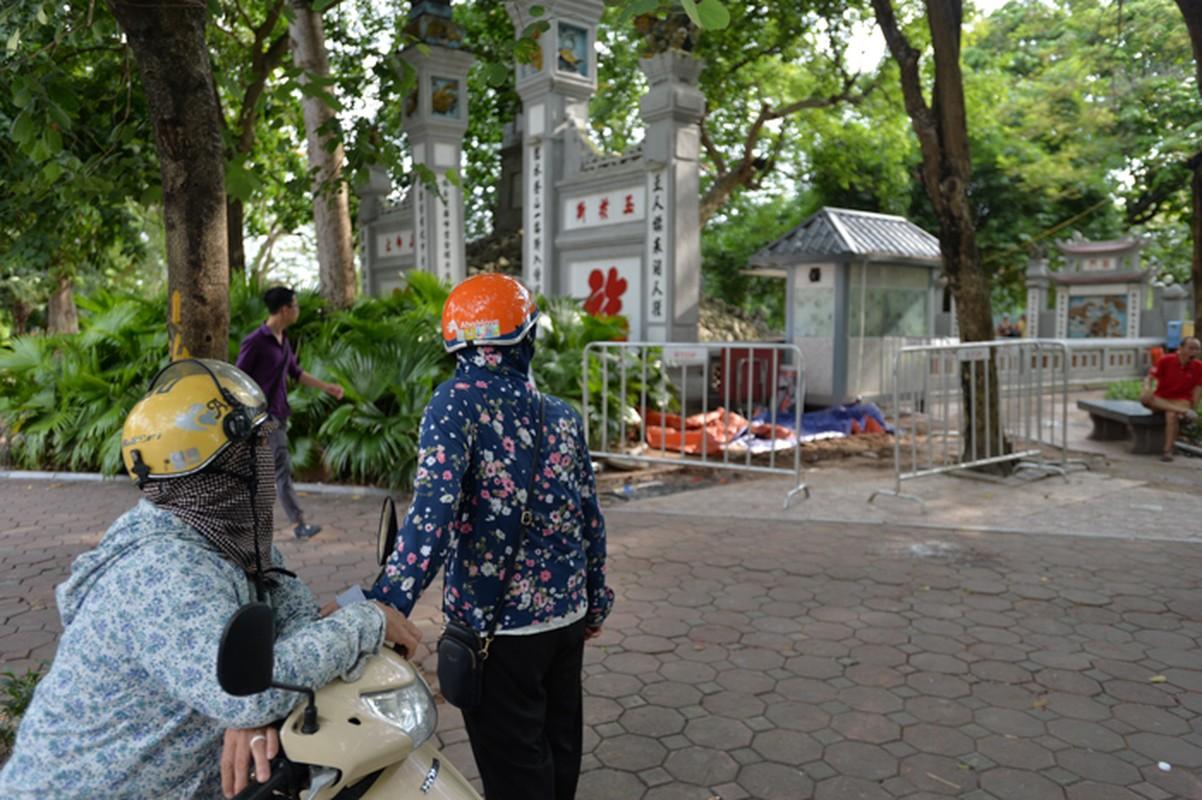 Can canh hien truong vua dao len 7 bo tieu cot tai Ho Guom-Hinh-10