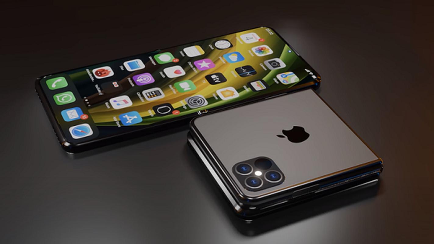 Xuat hien hinh anh iPhone Fold man hinh gap dep het nac-Hinh-4