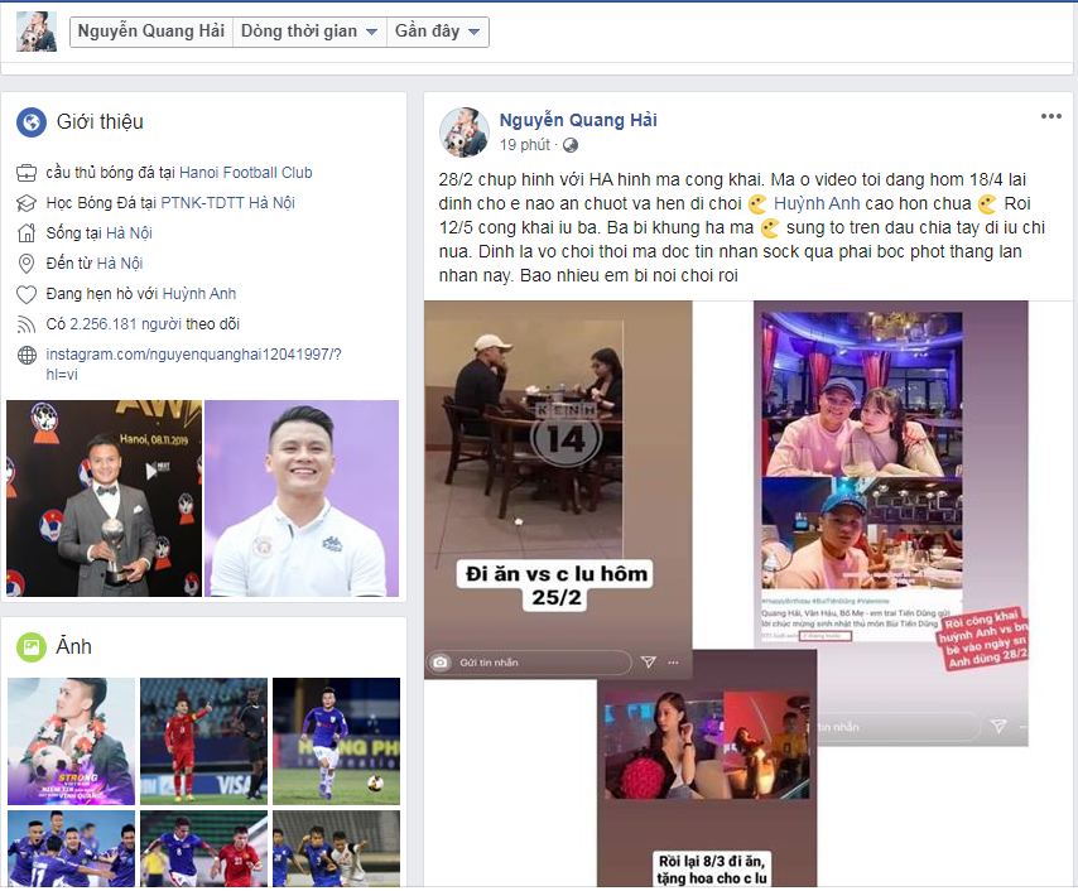 "Nu streamer nhan ""gach da"" vi quy chup viec Quang Hai lo tin nhan"