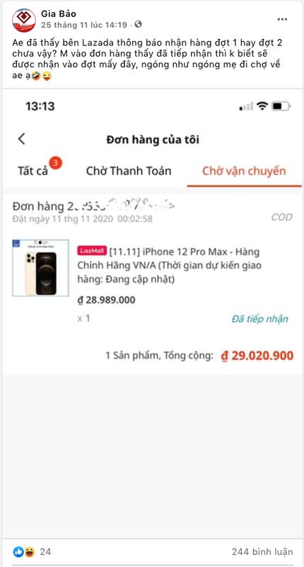 "iPhone 12 chinh hang ve Viet Nam: Khach ""than"" Cellphones, Hoang Ha, Lazada... ""lat mat""-Hinh-9"