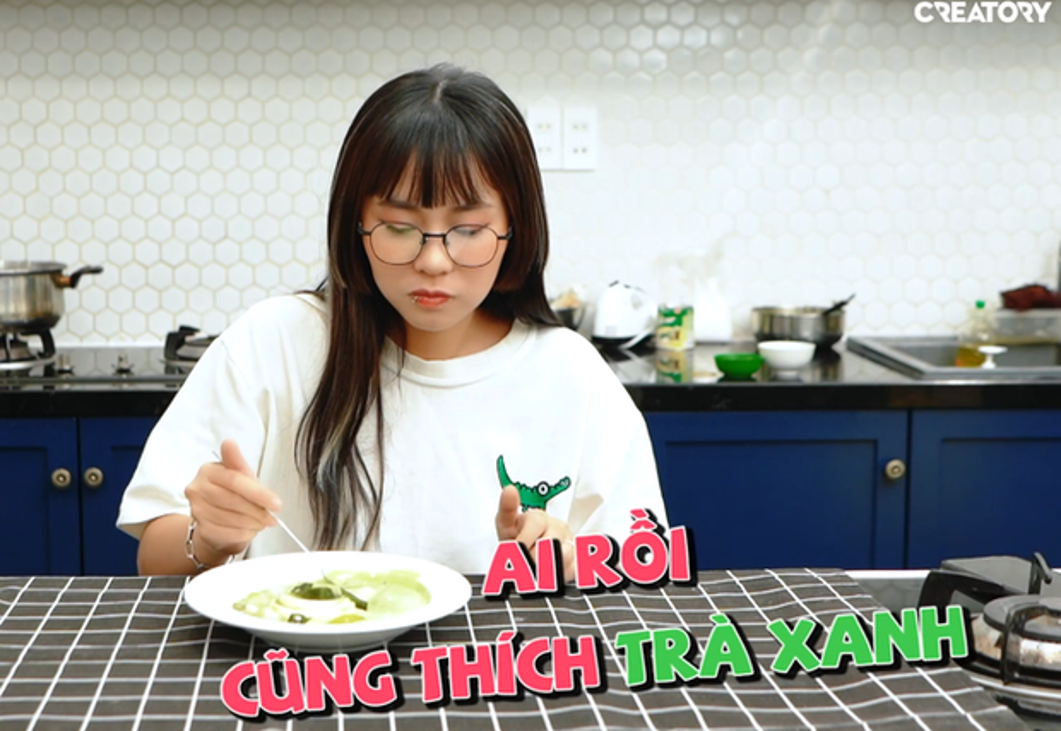 """Buot mieng dua trend """"tra xanh"""", MisThy bi dan mang mia mai-Hinh-4"""