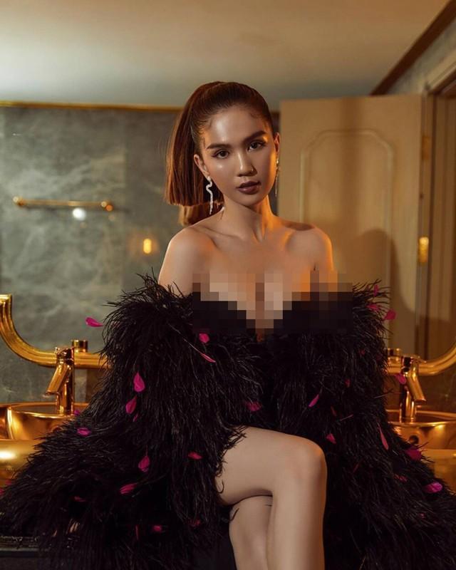 Mac sexy khoe nguc cang tran, Ngoc Trinh van bi che kem sang-Hinh-4