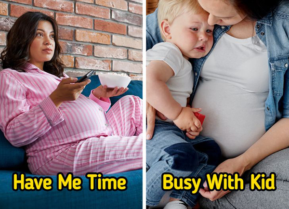 Khac biet khi mang thai lan thu 2, bo lo me bau se hoi han
