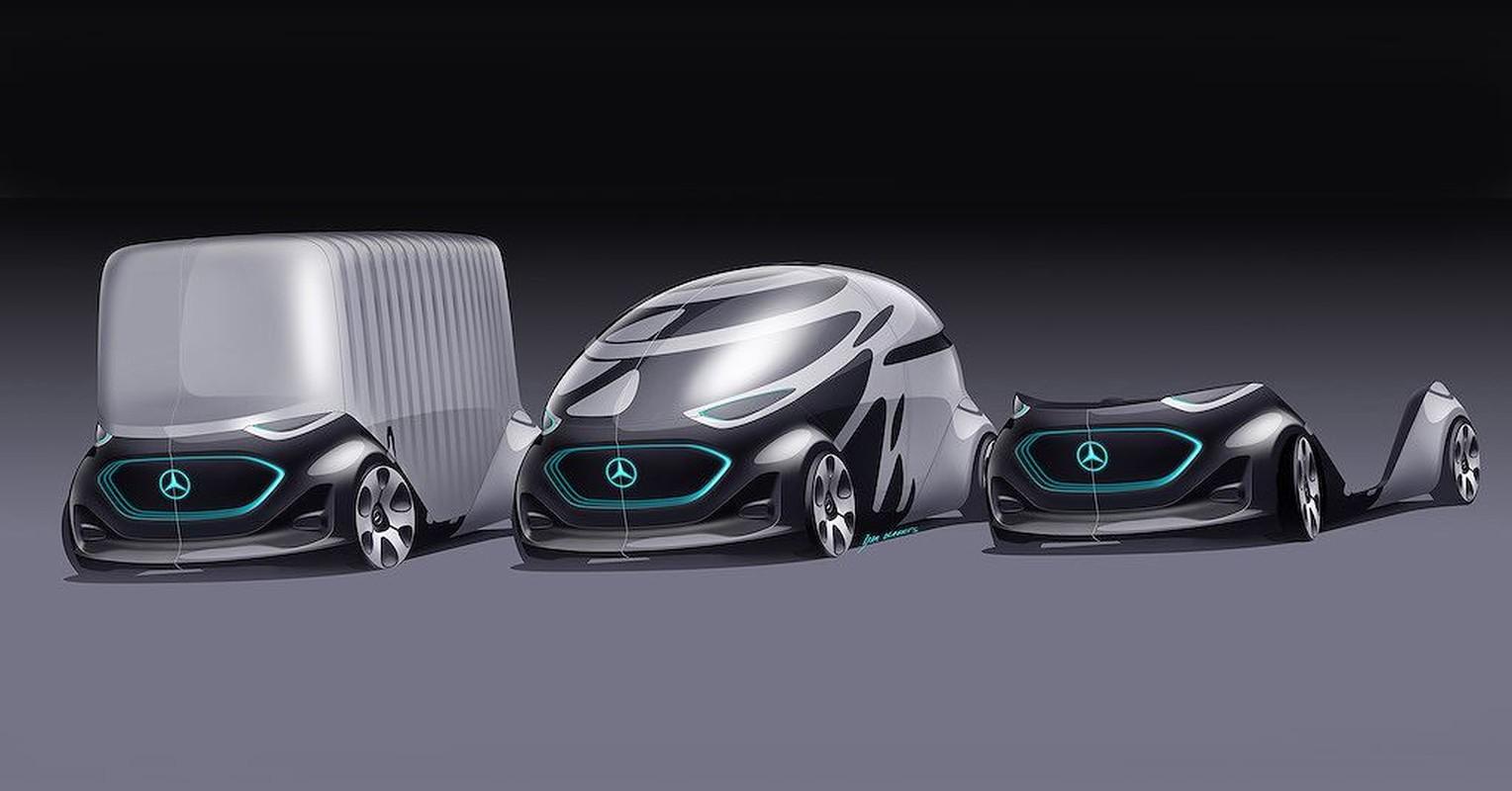 Choang voi concept xe dien sieu doc la cua Mercedes-Benz