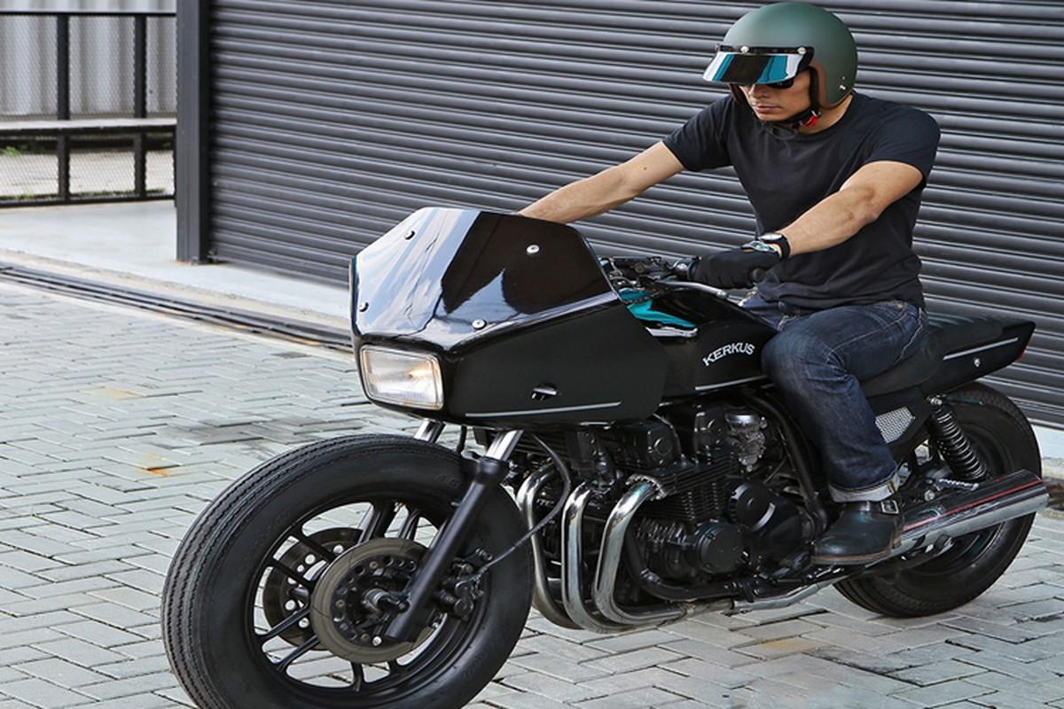 Soi xe moto canh sat Honda CBX750 do sieu la