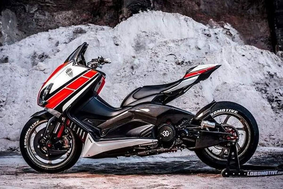 "Xe ga Yamaha TMAX ""nhai"" sieu moto YZF-R1 cuc doc"