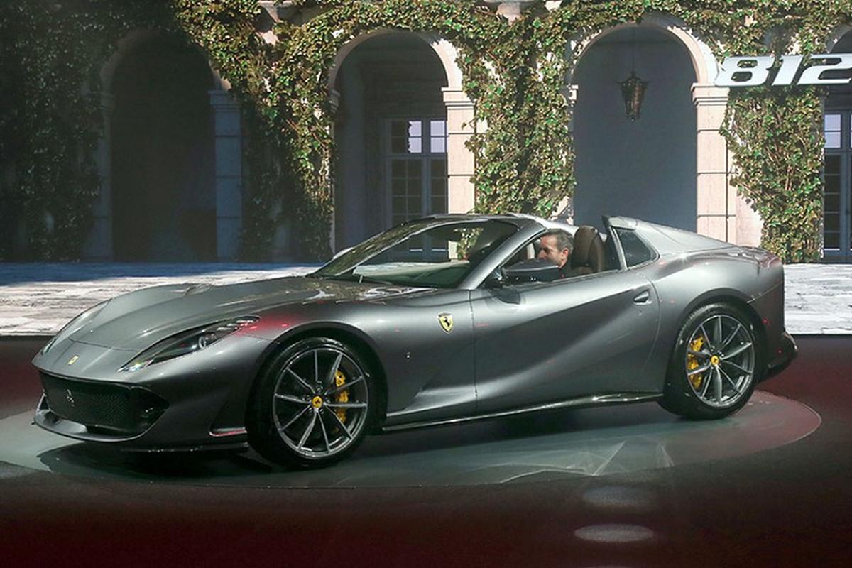 Sieu xe Ferrari 812 GTS V12 manh hon Aventador SVJ Roadster