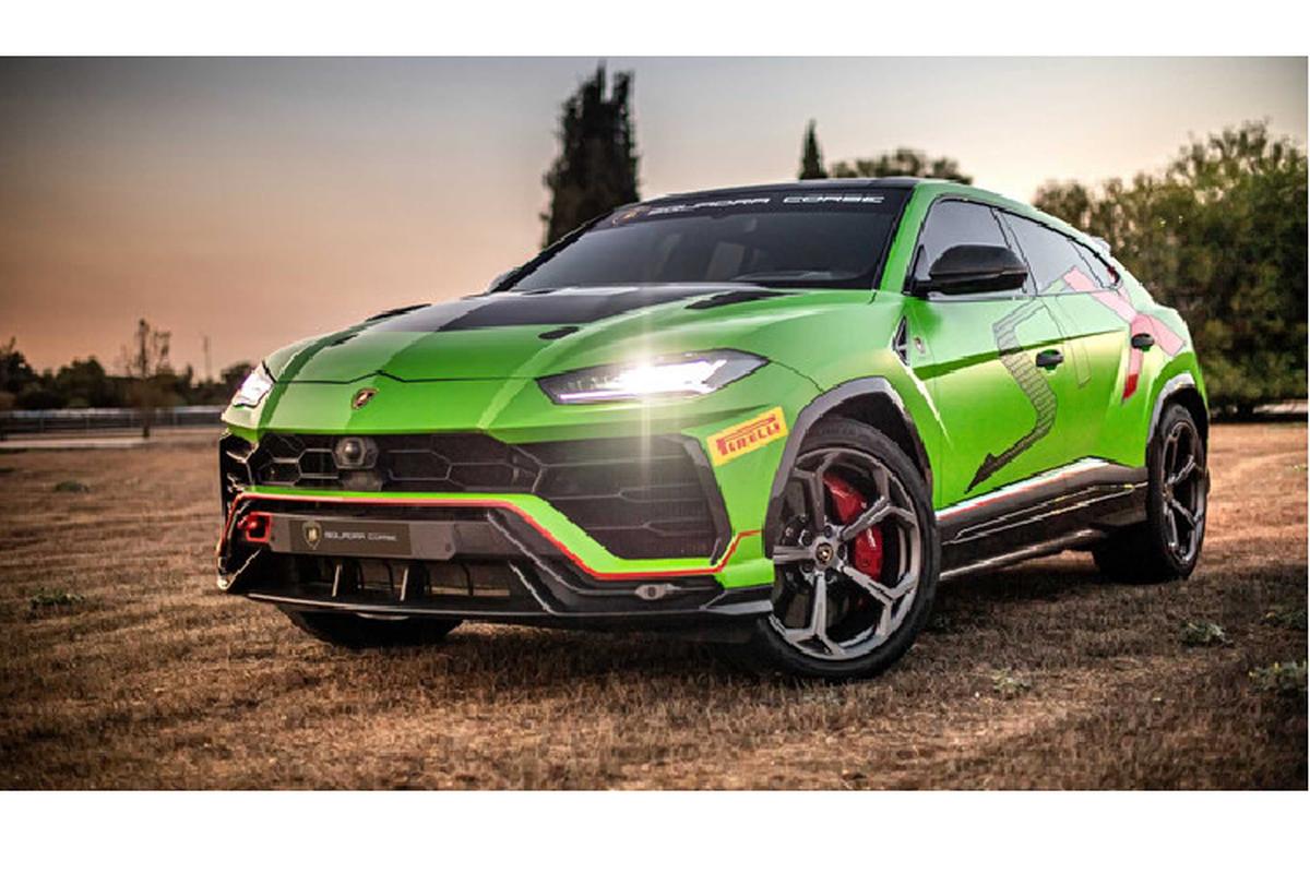 Sieu SUV Lamborghini Urus ban xe dua lo dien