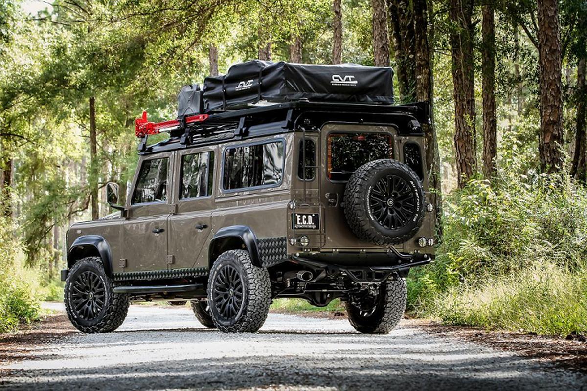 Ngam xe Land Rover Defender ECD do khung cho dan phuot-Hinh-8