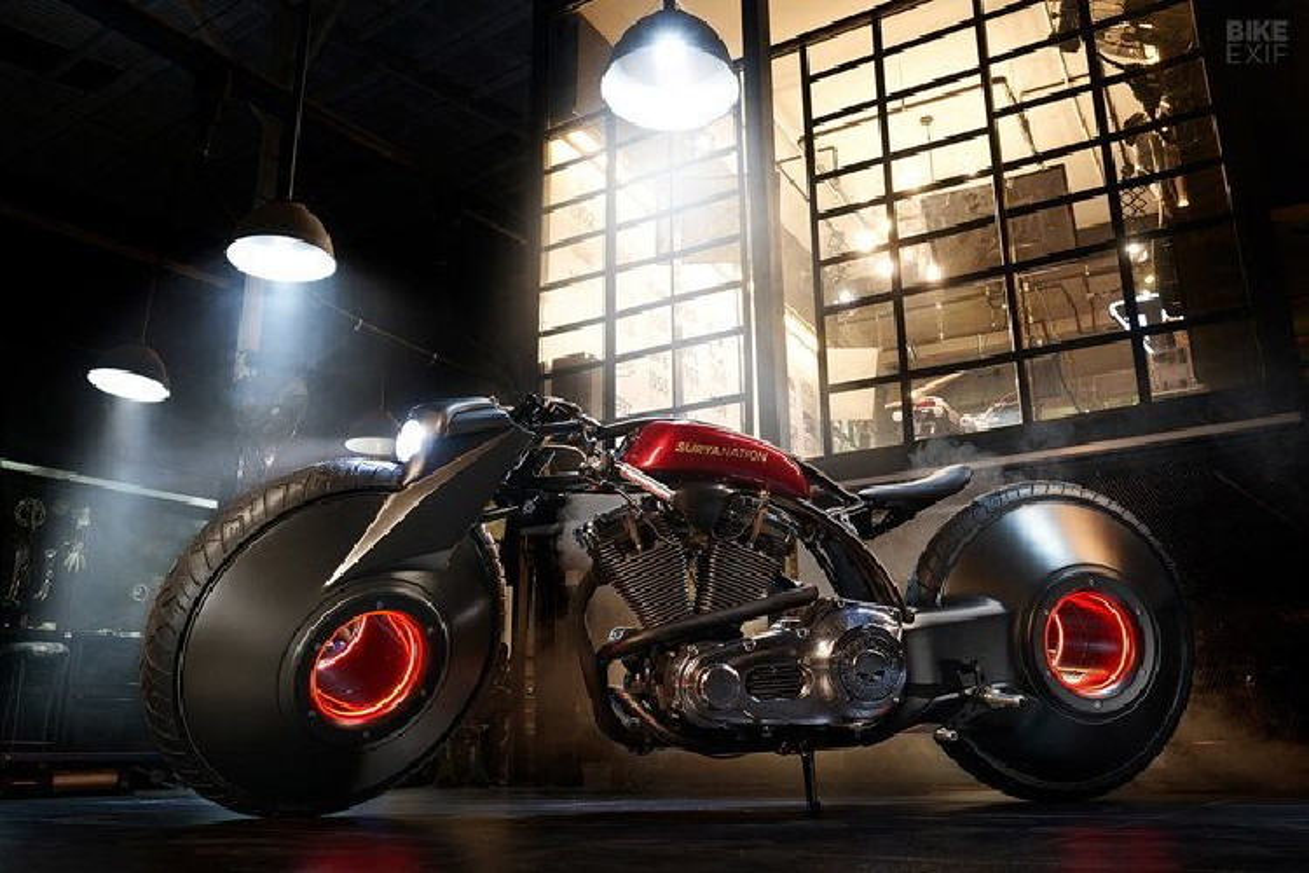 Ngam Harley-Davidson phong cach sieu moto den tu tuong lai