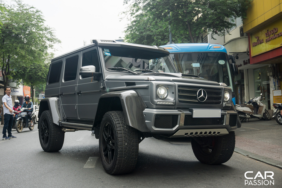"""""""Khung long"""" Mercedes G500 4×4² cua dai gia Campuchia o Sai Gon-Hinh-2"""