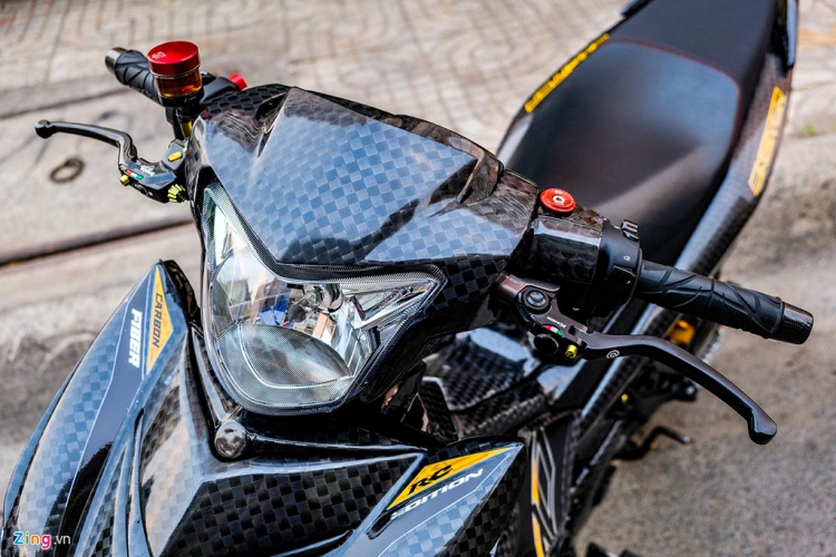 Yamaha Exciter 150 do carbon, phu kien tram trieu o Sai Gon-Hinh-11