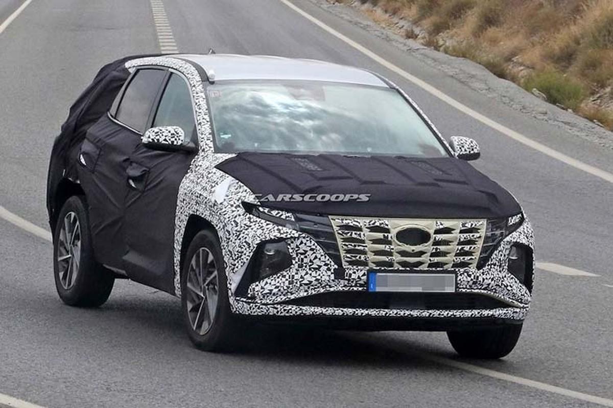Hyundai SantaFe 2021 phien ban nang cap he lo ngoai hinh-Hinh-5
