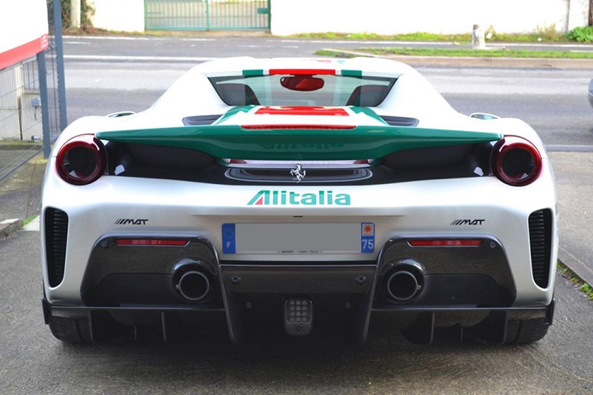 Sieu xe Ferrari 488 Pista Spider Alitalia phong cach Lancia Stratos-Hinh-7