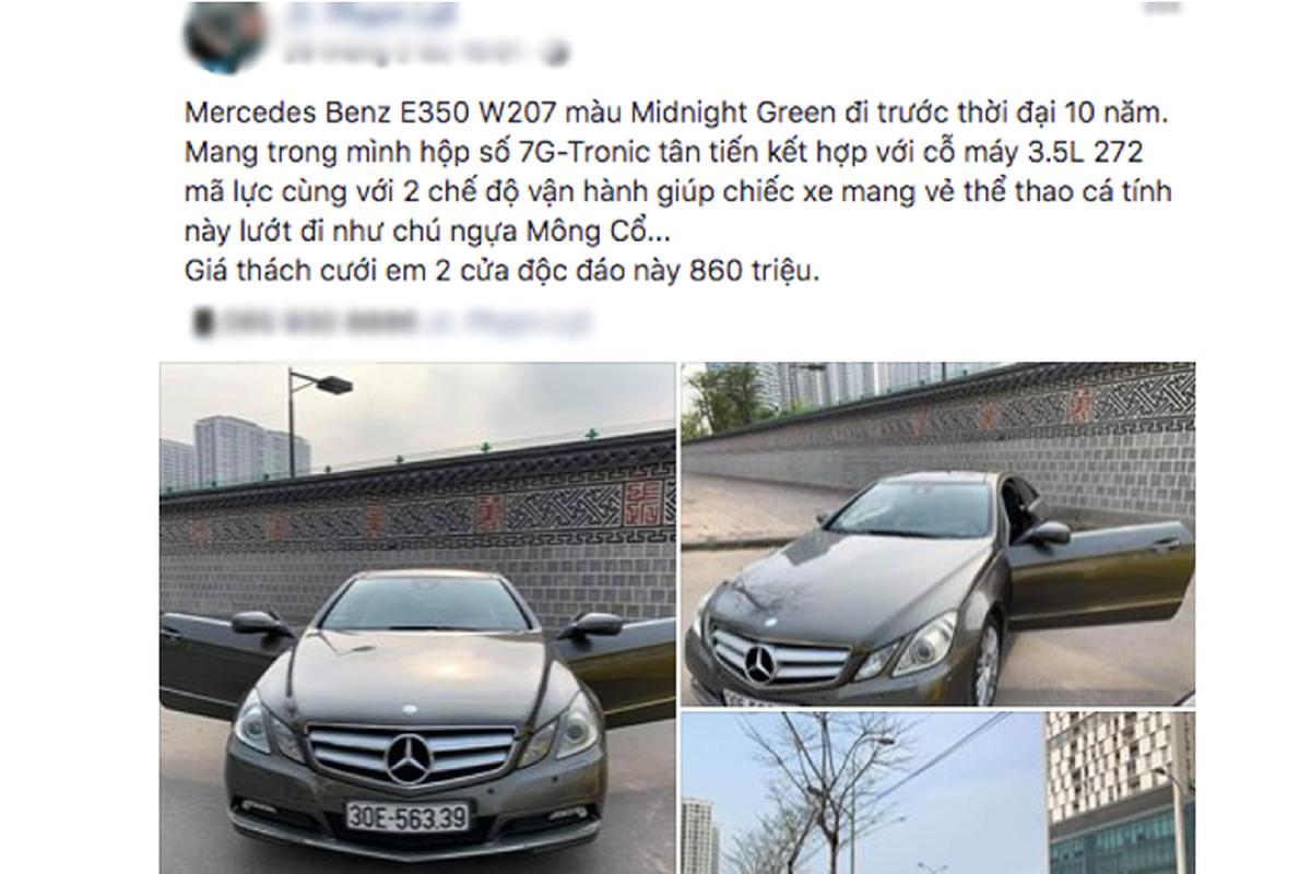 Mercedes-Benz E350 Coupe dung 10 nam, ban 860 trieu o Sai Gon-Hinh-3
