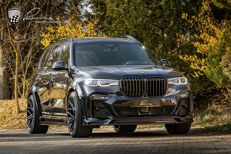 BMW X7 co bap hon voi ban do than rong tu Lumma Design
