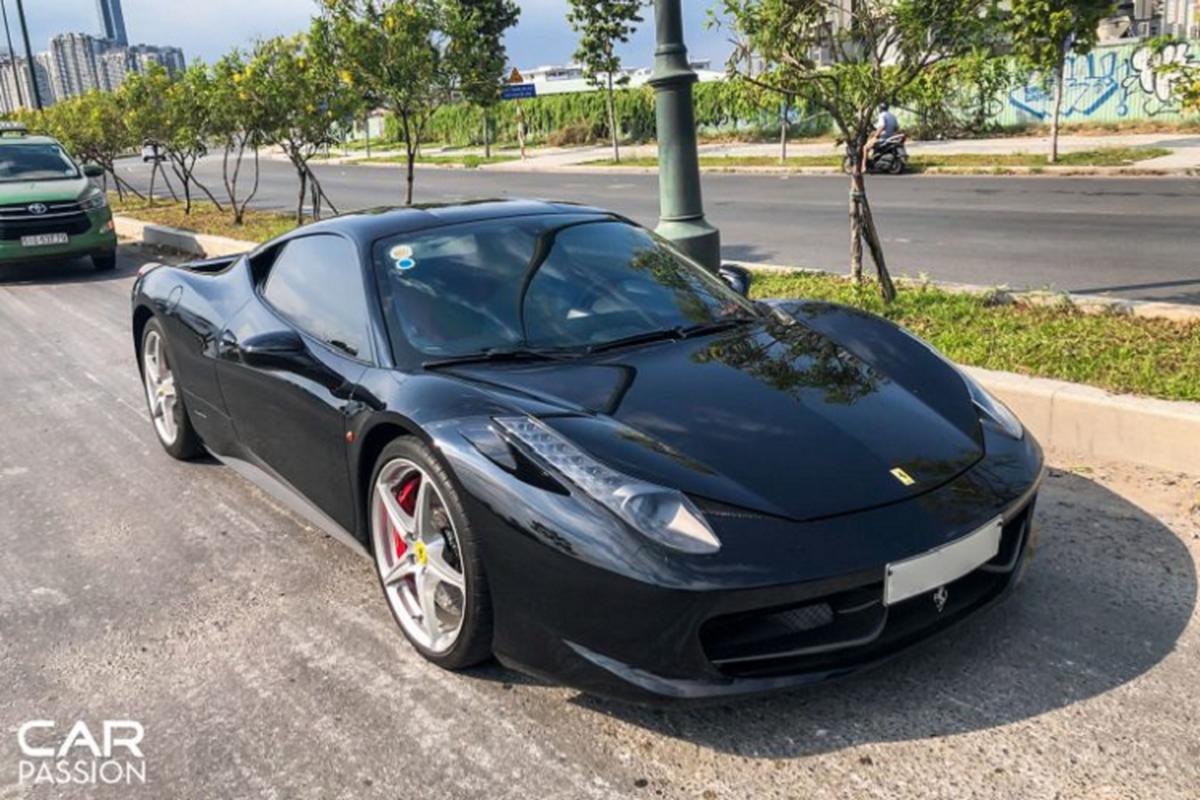 """""""Sieu ngua"""" Ferrari 458 Italia dau tien ve Viet Nam tai xuat"""