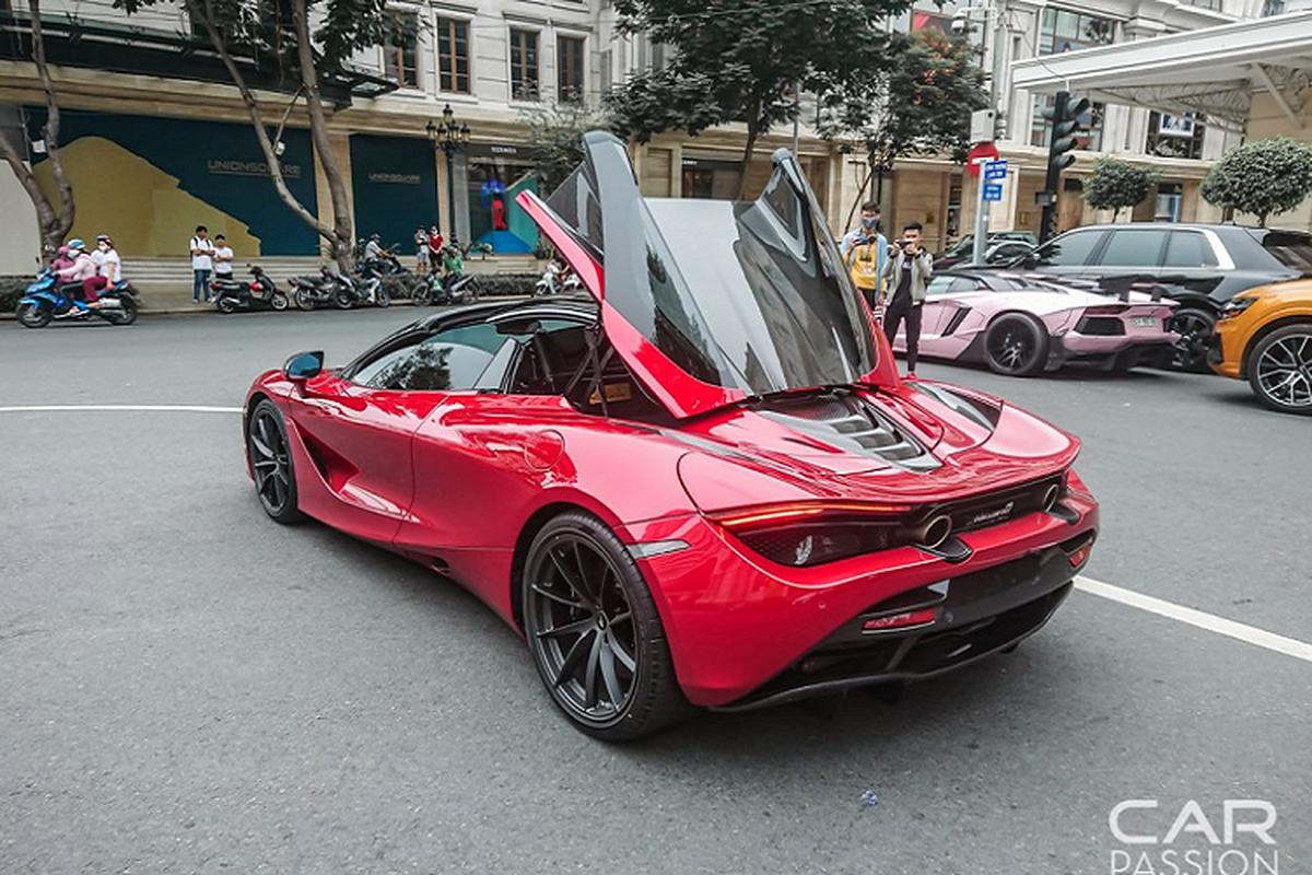 McLaren 720S Spider mau do doc nhat Viet Nam lan dau xuong pho-Hinh-8