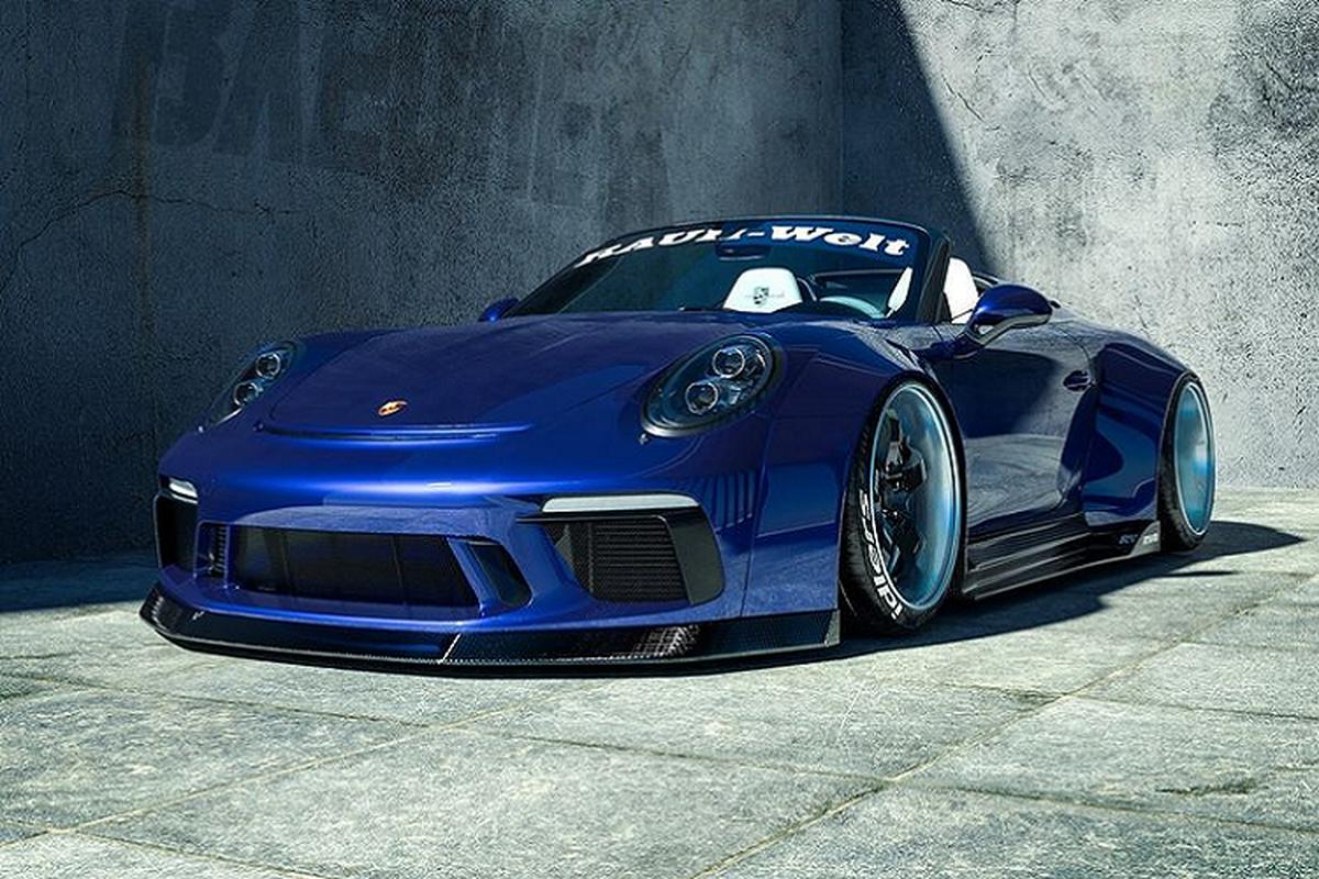"Porsche 911 Speedster ""let dat"" voi goi do than rong tu RWB"