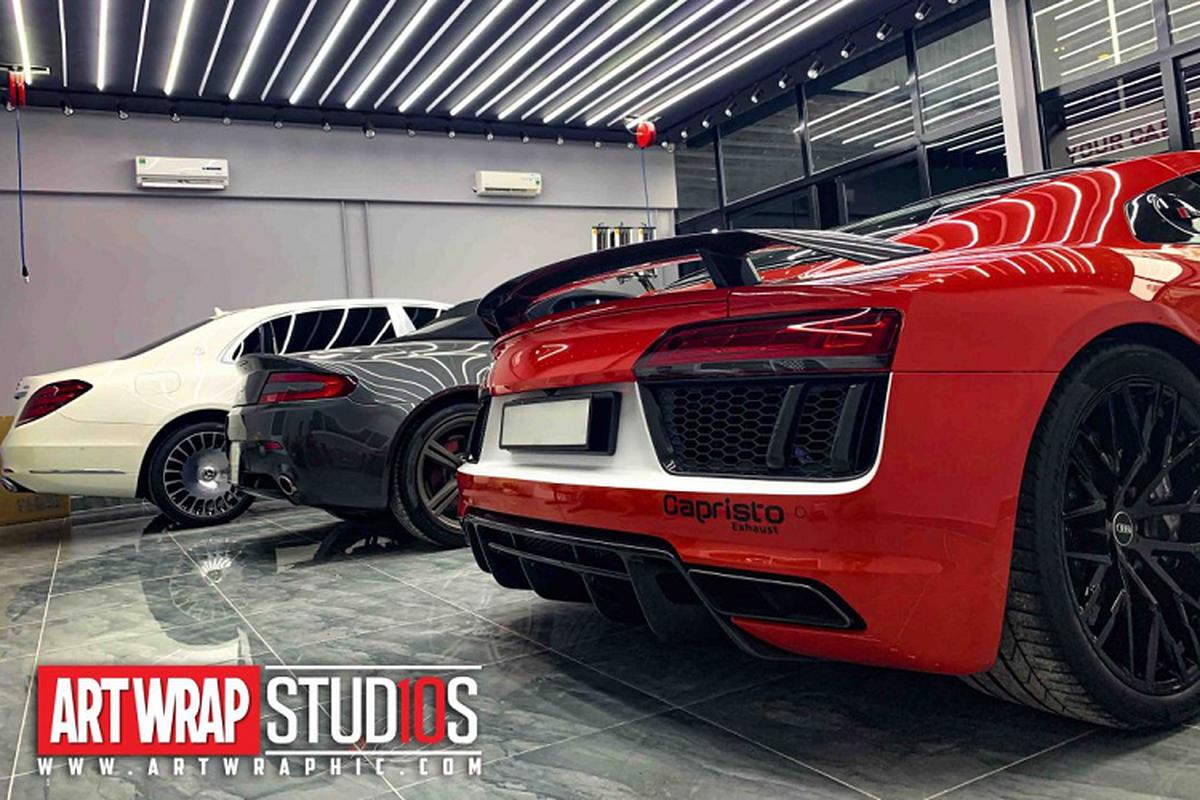 Audi R8 V10 Plus cua tay choi Sai Gon do phong cach sieu chat-Hinh-9