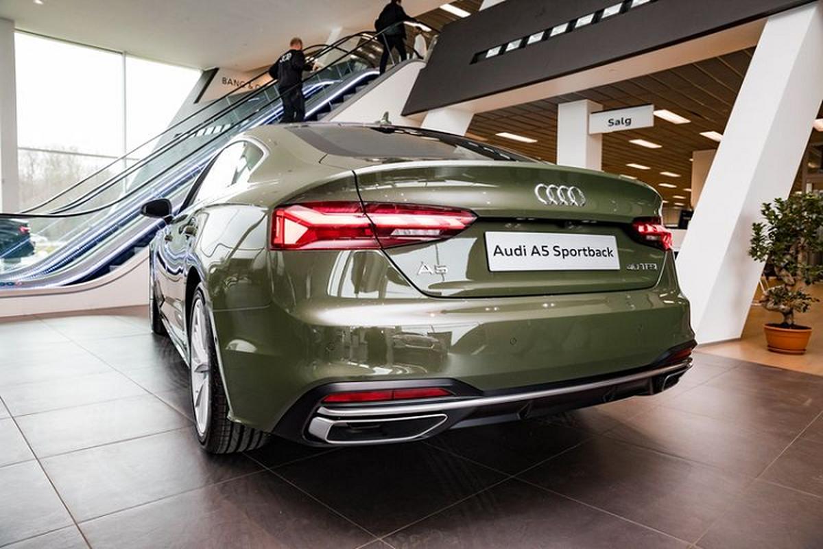 Audi A5 Sportback 2020 lich lam voi ngoai that xanh quan doi-Hinh-6