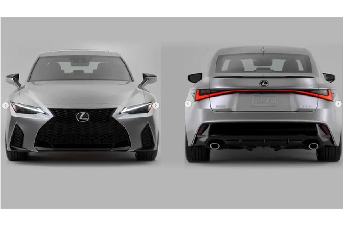 Lexus IS 2021 the he moi lo dien truoc them ra mat