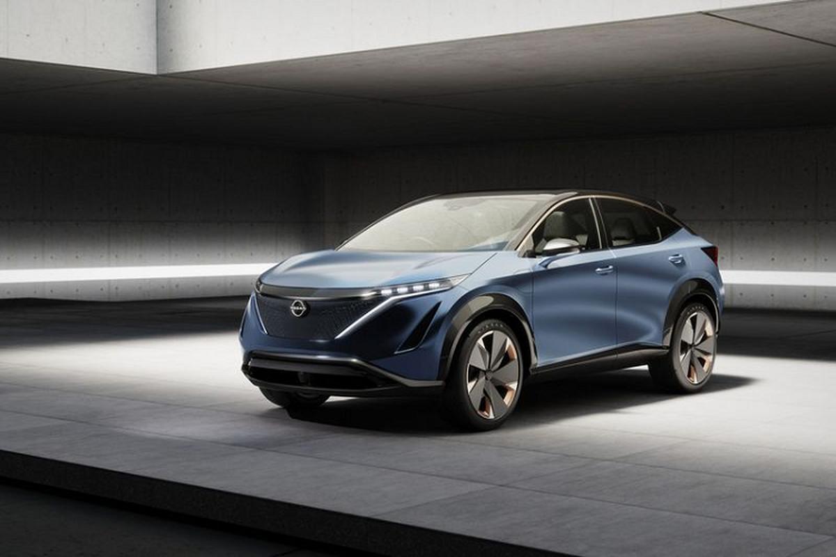 """Nissan Ariya 2021 - crossover dien """"van nguoi me"""" sap ra mat"""