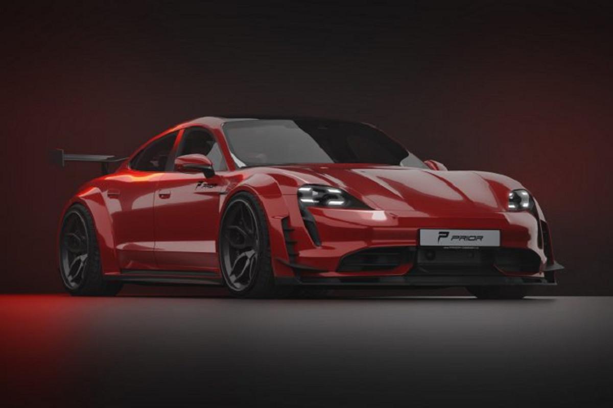 Prior Design do than rong cho sieu xe dien Porsche Taycan