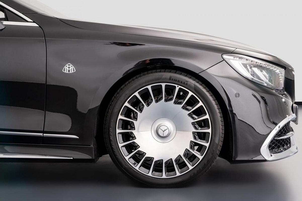 Xe sang Mercedes-Maybach S650 Cabriolet dung chan, ban van loi-Hinh-3