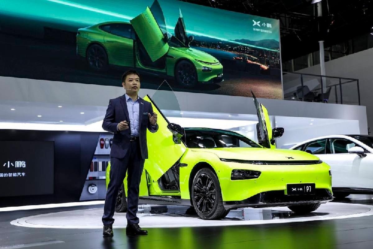 Xpeng P7 Wing 1,4 ty dong, xe Trung Quoc phong cach Lamborghini