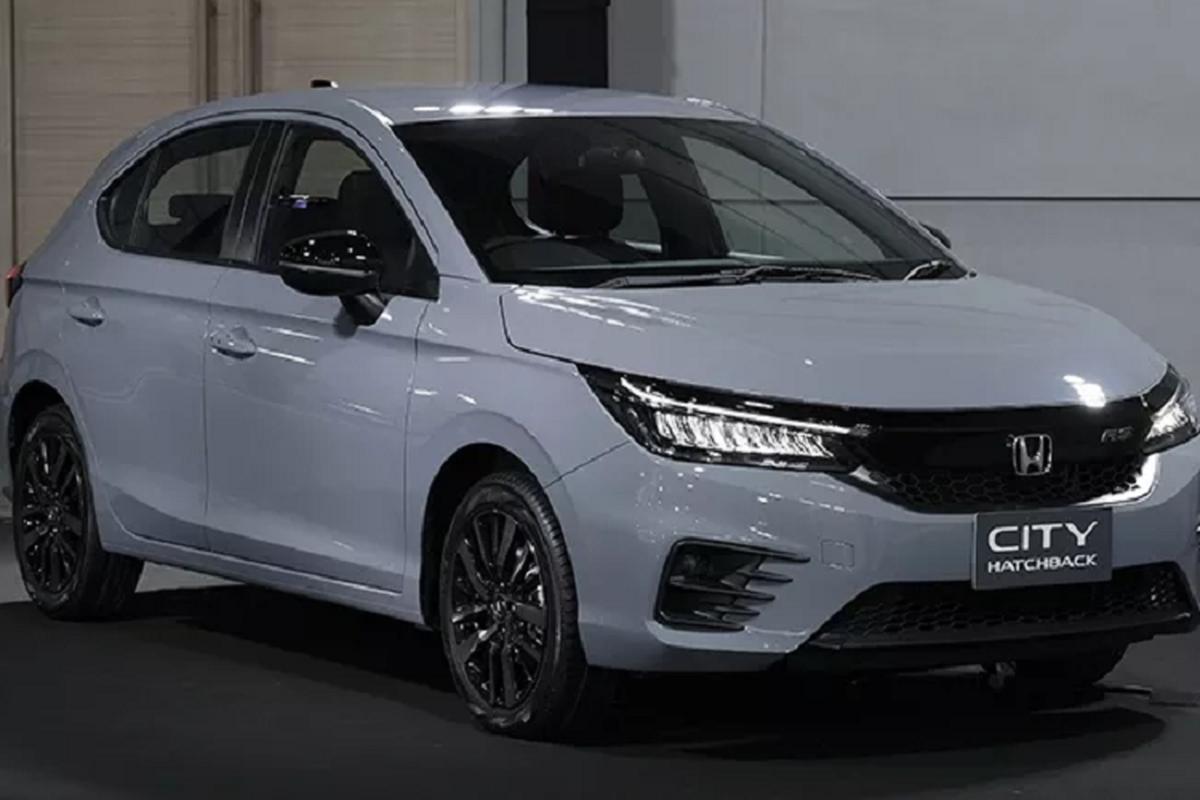 Honda City hatchback 2021 mau xam xi mang gay sot tai Thai Lan