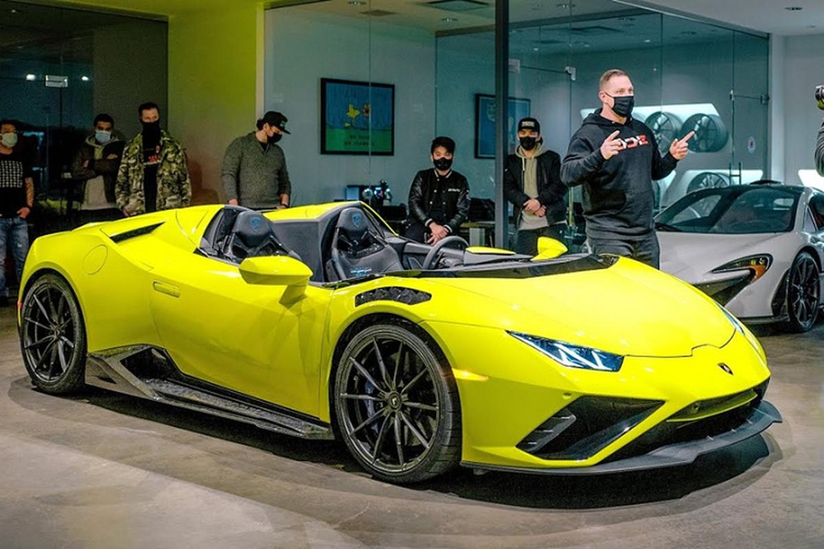 "Ngam sieu xe Lamborghini Huracan Evo ""Aperta"" 840 ma luc, doc nhat"