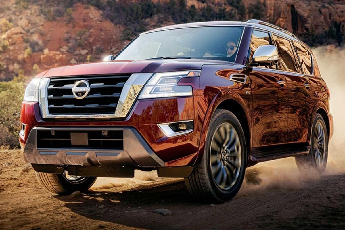 Nissan Armada 2021 moi co gi de canh tranh Toyota Land Cruiser?