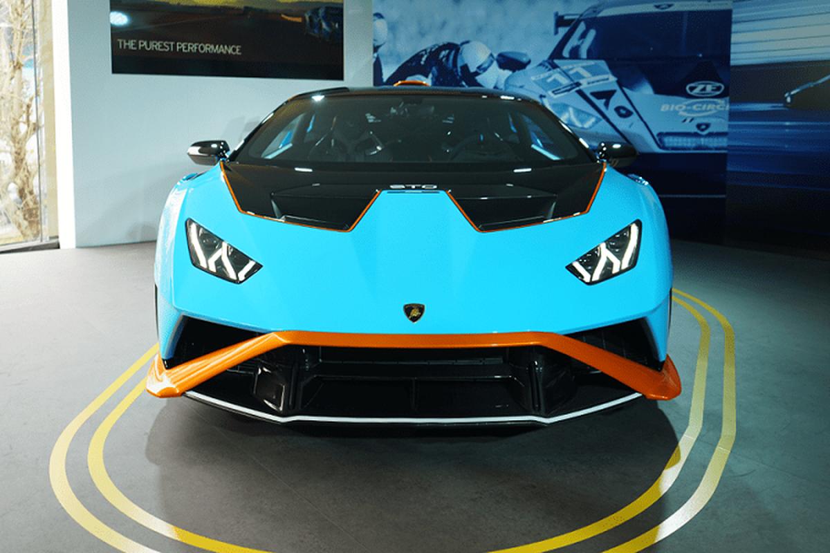 Sieu xe Lamborghini Huracan STO lan dau ra mat tai chau A