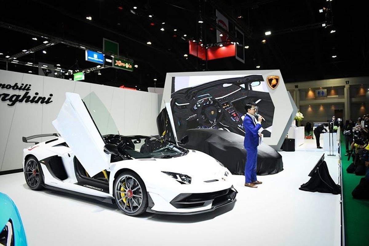 Lamborghini Aventador SVJ mui tran hon 37 ty dong tai Thai Lan
