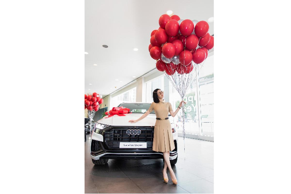 Le Quyen tau SUV hang sang Audi Q8 chinh hang hon 5 ty dong