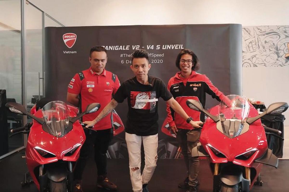 Dai gia Minh Nhua tau sieu moto Ducati Panigale V4 hon 2 ty dong