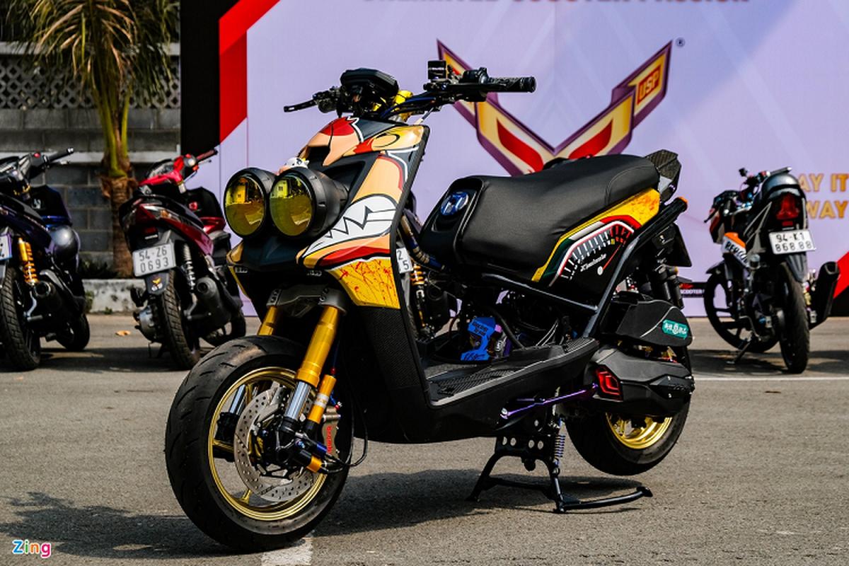 Dan choi Sai Gon do xe ga Yamaha BWS hon 200 trieu