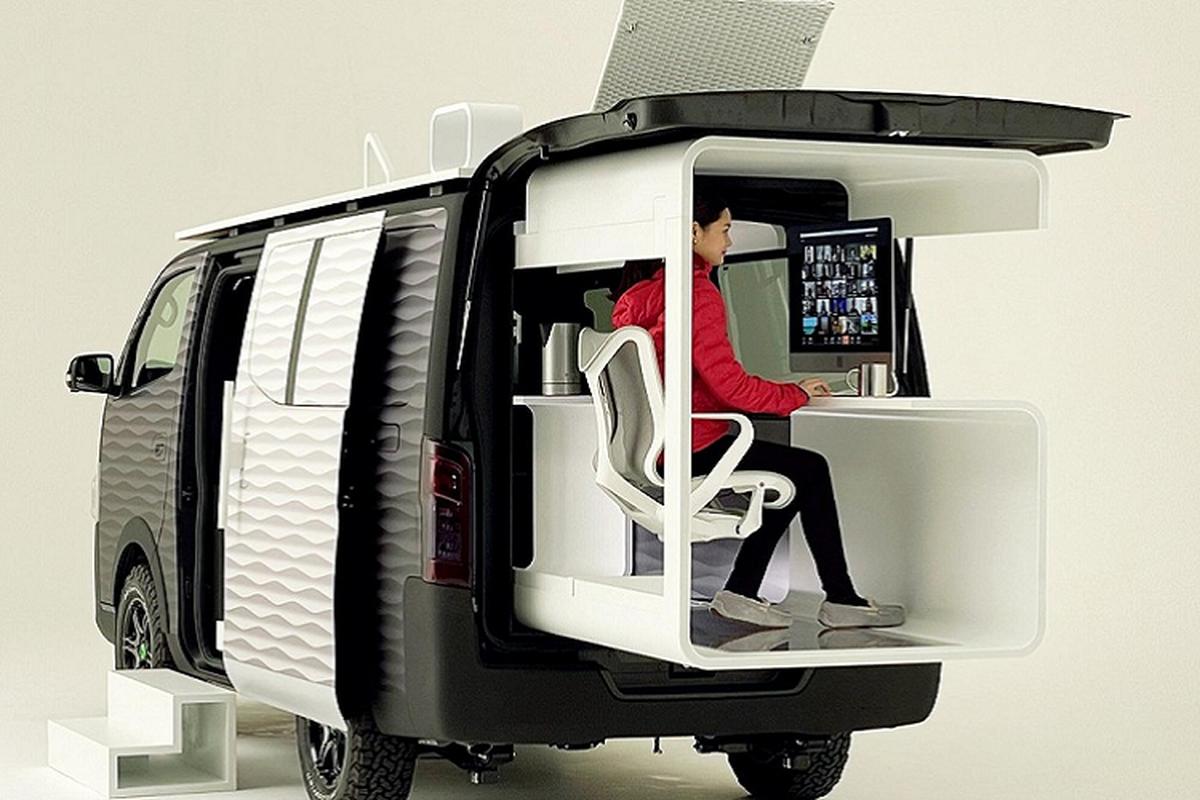 """Nissan """"Office Pod"""" - van phong di dong sieu tien loi ra mat-Hinh-5"""