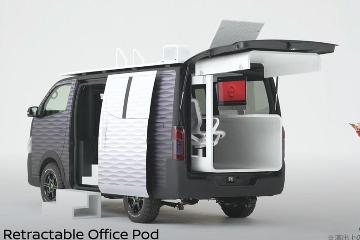 """Nissan """"Office Pod"""" - van phong di dong sieu tien loi ra mat"""