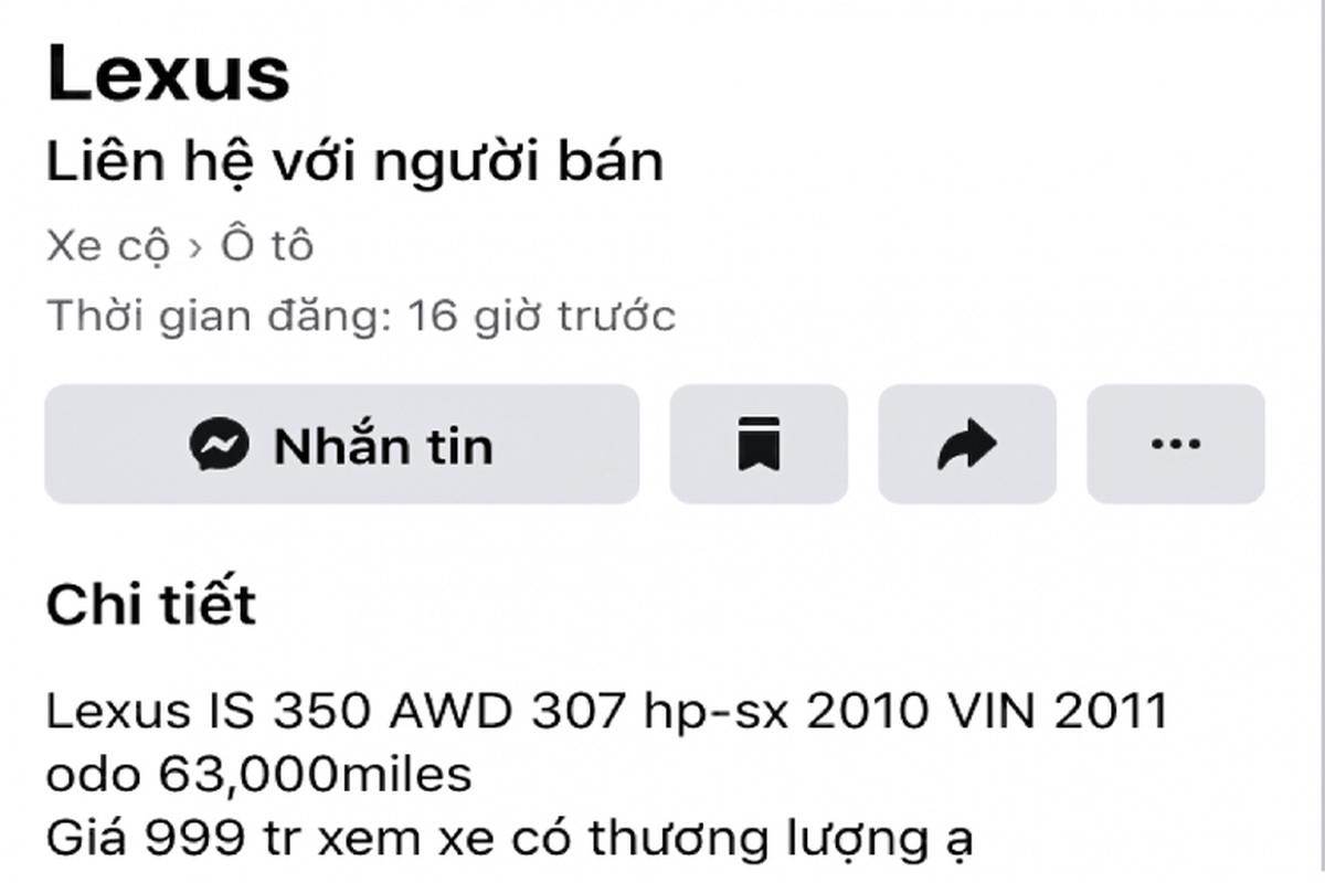 Can canh Lexus IS 2010 chay chan, ban van gan 1 ty o Sai Gon-Hinh-4